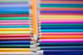 彩色铅笔线条 — 图库照片