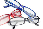 Black red and blue glasses — Stock Photo