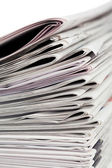 Newspapers on a white background — Stock Photo