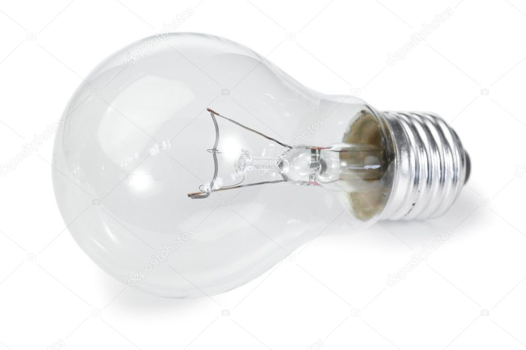 Isolated light bulb on a white background  Stock Photo #10578140