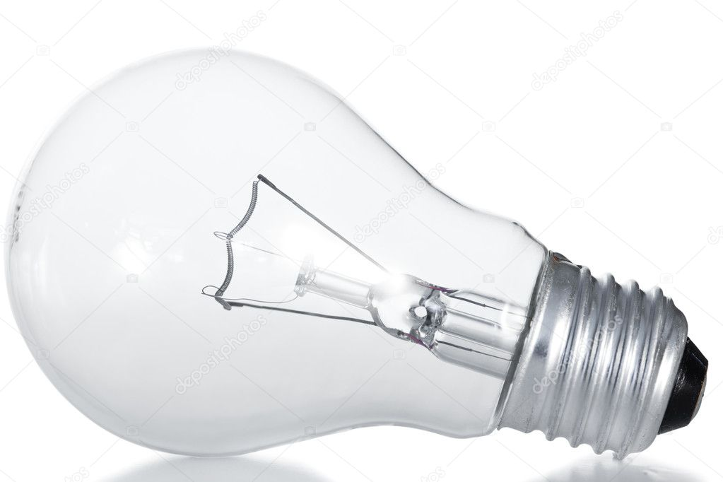 Light bulb on a white background — Stock Photo #10578145