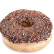 Chocolate donut isolated - Foto de Stock