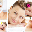 Collage of young relaxing — Stock Photo #10580157