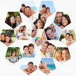 Montage of lovers spending time together — Stock Photo