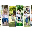 Montage of children having fun with their parents — Stock Photo