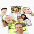 Stock Photo: Collage of young looking at camera