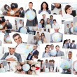 Collage of business - Stockfoto