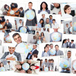 Collage of business — Stockfoto