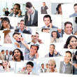Royalty-Free Stock Photo: Collage of business talking on the phone