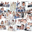 Collage of business tems — Stock Photo
