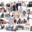 Collage of business working — Stock Photo #10588929