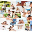 Cute couples spending good time together — Stock Photo