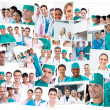 Stock Photo: Doctors, nurses and surgeons posing