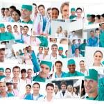 Doctors, nurses and surgeons posing — Stock Photo