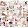 Collage of pregnant women — Stock Photo