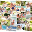 Royalty-Free Stock Photo: Collage of senior couples spending time together