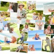 Foto Stock: Elderly relaxing alone