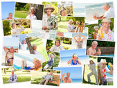 Elderly relaxing alone — Stock Photo