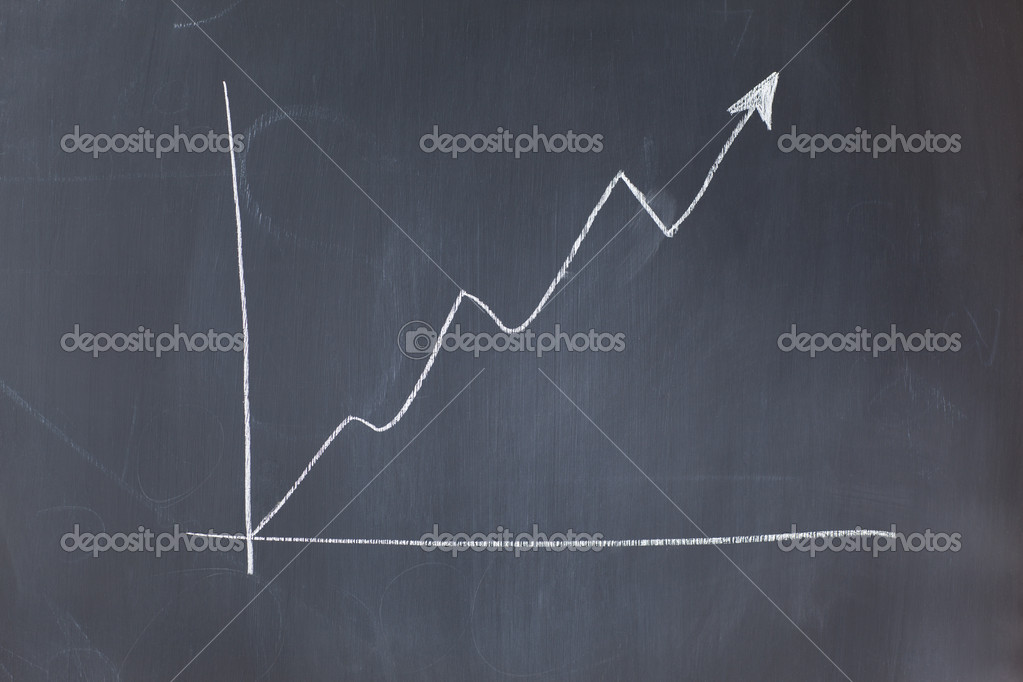 Irregular curve on a blackboard — Stock Photo #10582585