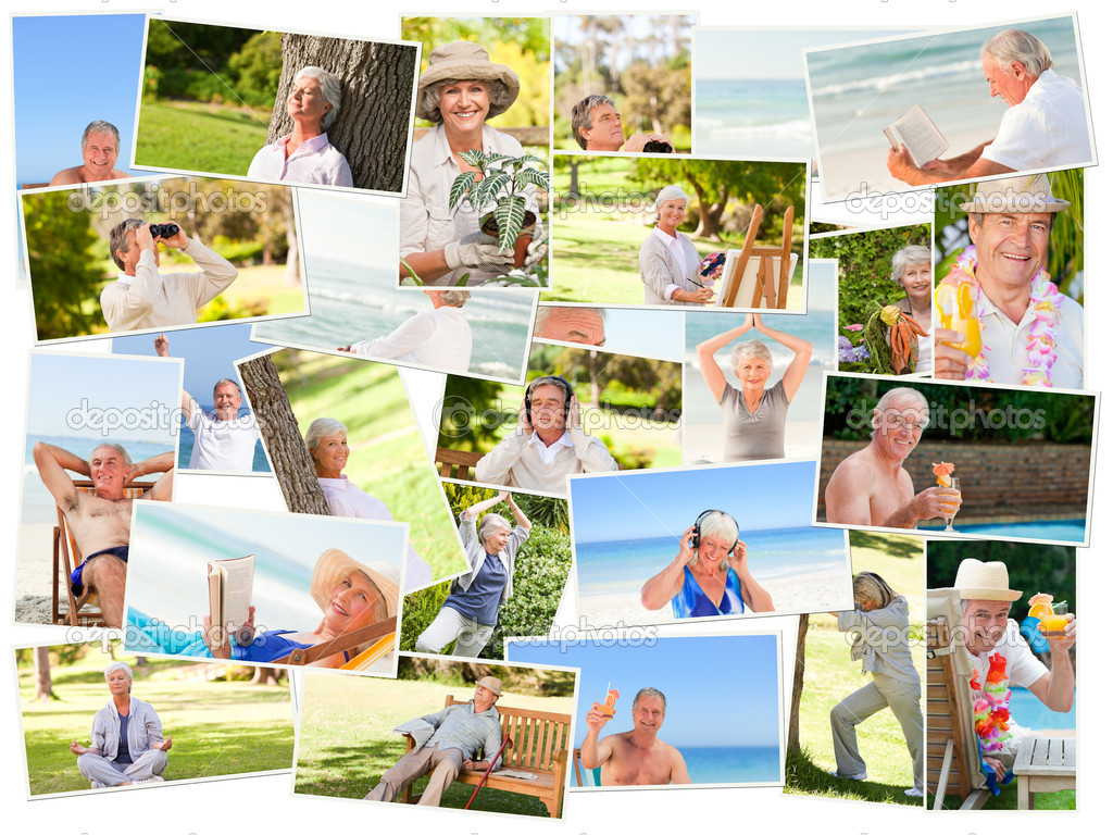 Elderly relaxing alone outdoors — Stock Photo #10589068