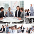 Collage of business in different situations — Stock Photo #10591748