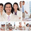 Collage of business working together — Stock Photo #10591916