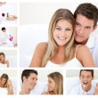Collage of a lovely couple having fun — Stock Photo #10592360