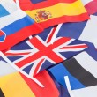 Several country flags — Stock Photo