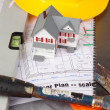 Stock Photo: Tools and miniature house