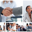 Stock Photo: Set of image with business at work