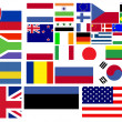 Collection of world flags — Stock Photo #10599897