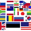 Collection of world flags - Stock Photo