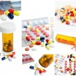 Colorful tablets with capsules — Stock Photo #10599901