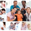 Collage of different medical situations — Foto Stock