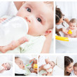 Collage of a mother spending a day with her child — Stock Photo #10599950