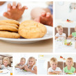 Collage of children having a snack — Stock Photo #10599959