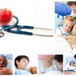 Stock Photo: Collage of sick children
