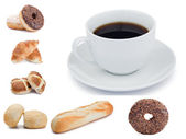 Coffee and pastries — Stock Photo