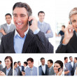 Royalty-Free Stock Photo: Collage of business using mobil phones