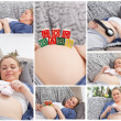 Collage of a woman during her pregnancy — Stock Photo #10600043