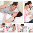Royalty-Free Stock Photo: Collage of a pregnant couple