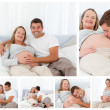 Collage of parents to be - Foto de Stock