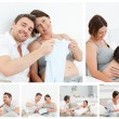 Royalty-Free Stock Photo: Collage of future parents