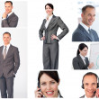 Stock Photo: Collage of business portraits