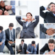 Collage of business — Stock Photo #10600105