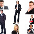 Collage of trendy business — Stock Photo