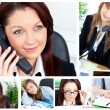 Royalty-Free Stock Photo: Collage of several business women