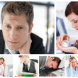 Collage of stressed business — Stock Photo