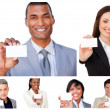 Collage of business showing signs — Stock Photo