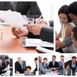 Collage of business meetings — 图库照片